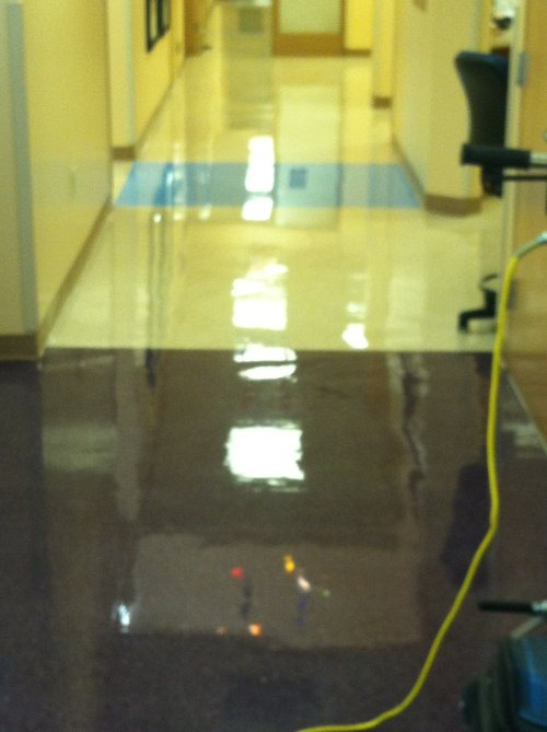 Floor cleaning by Impact Commercial Cleaning Services, LLC