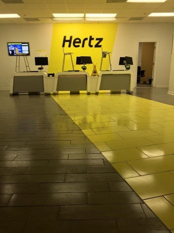 Floor Cleaning at Hertz Rental Cars in Nashville, TN