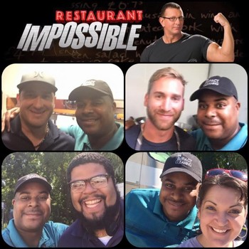 Taping of the Food Network's Restaurant Impossible Featuring Impact Commercial Cleaning. Episode airs in November. (Brian, our operations manager with show Chefs, Producers, and Staff)